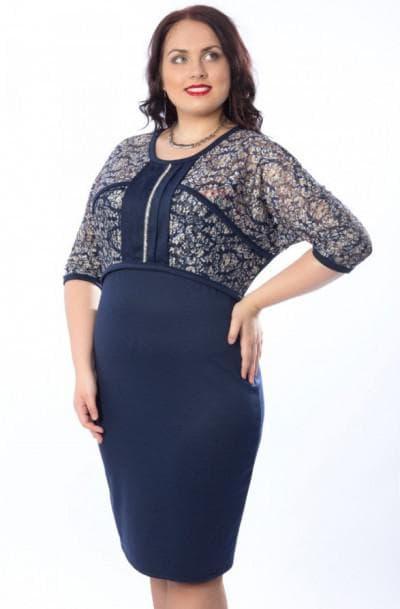 летнее платье для полных взрослых женщин с завышенной талией