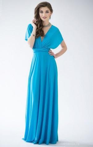 платье-трансформер для праздничного случая синего оттенка