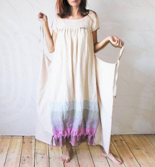 платье бохо простого кроя