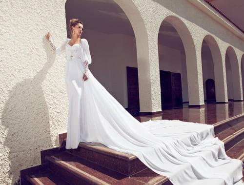 свадебные платья с длинным рукавом джульетта