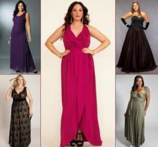длинное платье для полных дам