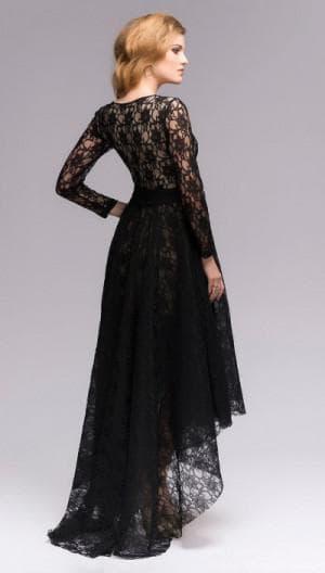 кружевное платье со шлейфом в пол