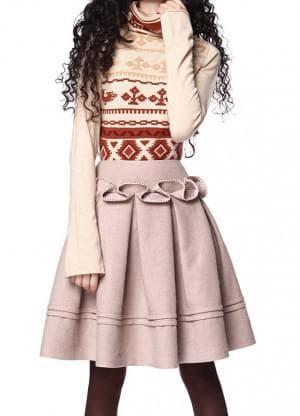 платье бохо с декоративными складками