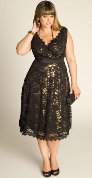 кружевное платье с запахом для полных