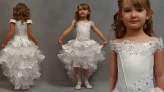платье со шлейфом для девочек