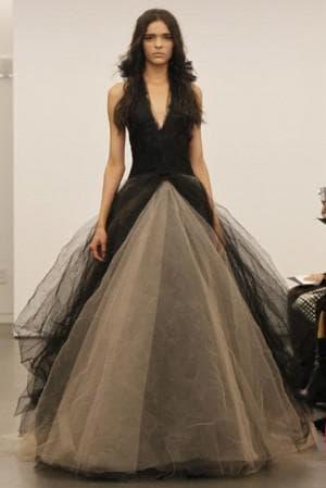 бело чёрное свадебное платье от Вера Вонг Meredith