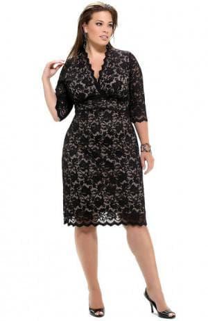 гипюровые платья больших размеров от Marina Rinaldi
