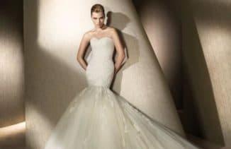 свадебные платья русалочка со шлейфом для дам