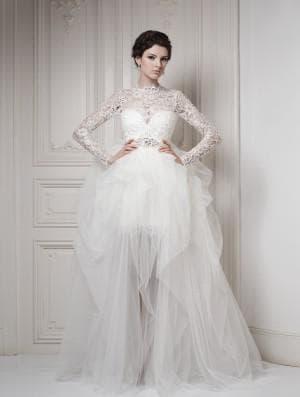 свадебные платья с длинным рукавом от Ersa Atelier