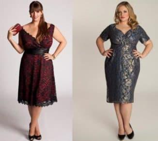 платья из гипюра для полных дам