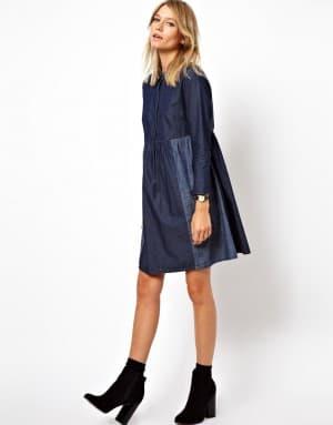 платье рубашка свободного кроя