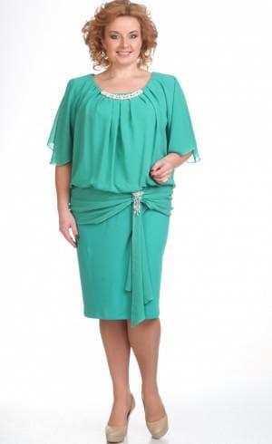 длинное нарядное шифоновое платье полных женщин