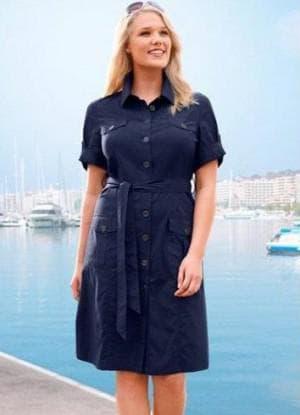 джинсовое платье с рюшками большого размера