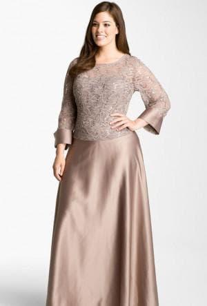 платья в пол с неброским рисунком для полных