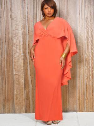 длинное нарядное платье с завышенной талией полных женщин