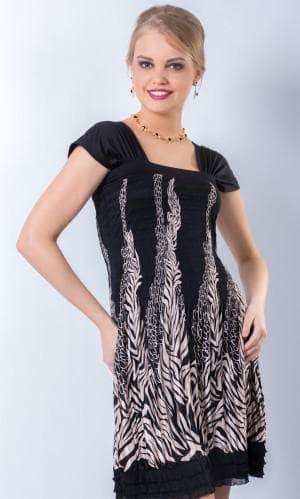 прямоугольное платье из купонной ткани