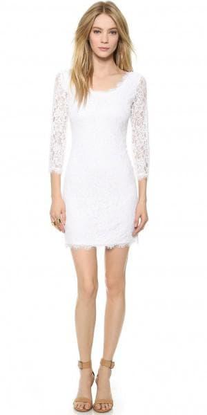 свадебное платье с вырезом на спине от Diane von Furstenberg