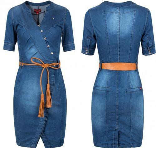 джинсовое ковбойное платье большого размера