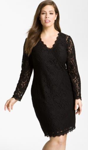 вязаное платье с запахом для полных