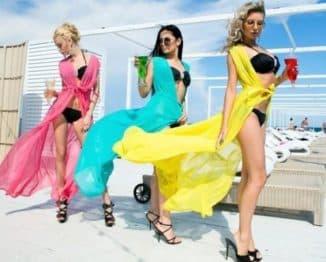 длинные купальные платья