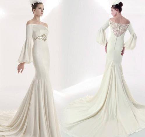 свадебные платья с длинным рукавом Бишоп