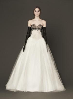 бело чёрное свадебное платье от Вера Вонг Margaret