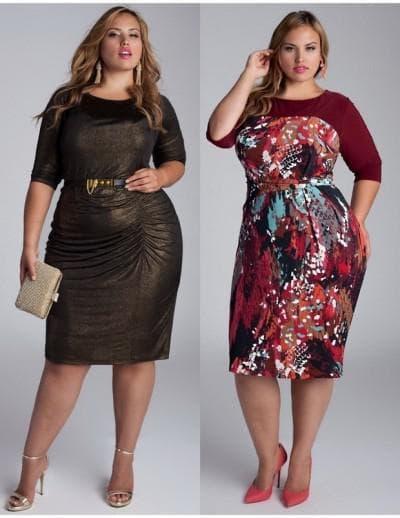 длинное нарядное платье различных цветов для полных женщин