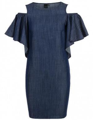 платье с воланами на плечах от Lost Ink