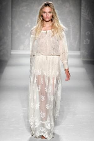 кружевное платье в пол от Alberta Ferretti