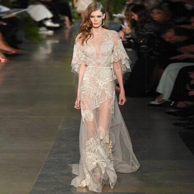 кружевное платье в пол от Balenciaga