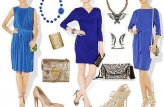 какие аксессуары подойдут к голубому платью