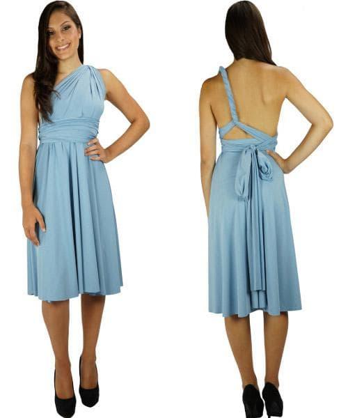 платье трансформер на одно плечё