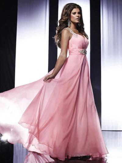 платье на выпускной для мамы в греческом стиле розового цвета