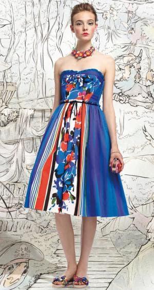 платье беби долл из купонной ткани
