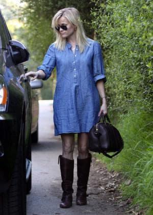 обувь для джинсового платья рубашки