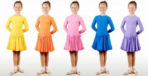 платья для бальных танцев для девочек разного цвета