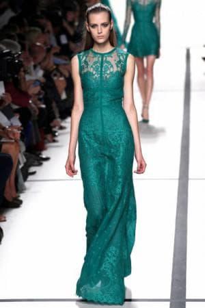 кружевное платье в пол от Модный дом Balmain