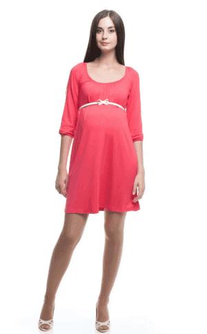летние платье А силуэт для беременной
