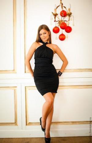 чёрное короткое платье трансформер