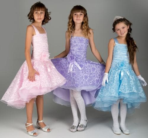 платья для бальных танцев для девочек разных фасонов