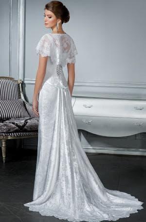 платье для венчания со шлейфом