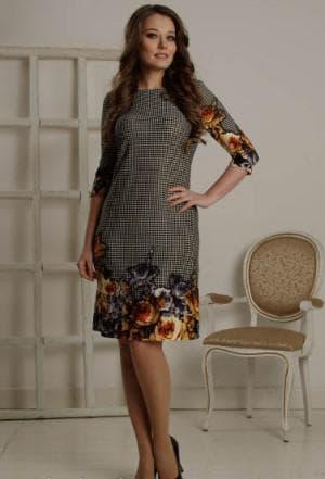 платье футляр из купонной ткани