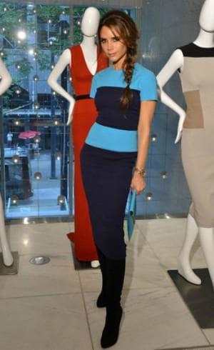 спортивное трикотажное платье от Victoria Beckham