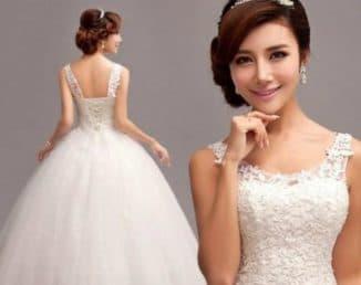 свадебные платья пышные с кружевом