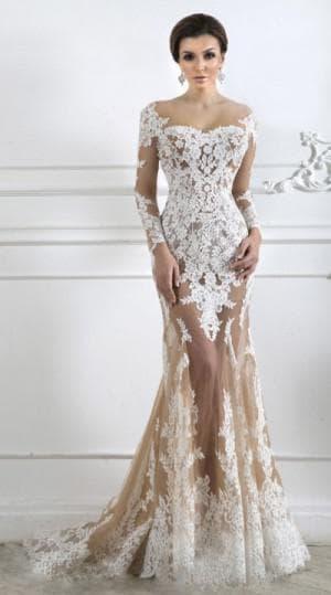 кружевное платье в пол от Chloé