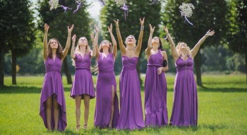 сиренево-розовое платье трансформер
