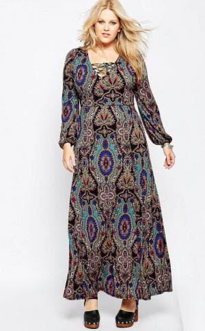 длинные нарядные платья для полных женщин от ASOS CURVE