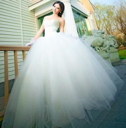 очень пышные подвенечное свадебное платье