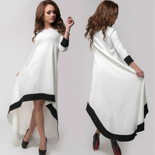асимметричное платье белого цвета