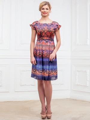 платье с цветным принтом лоя худеньких